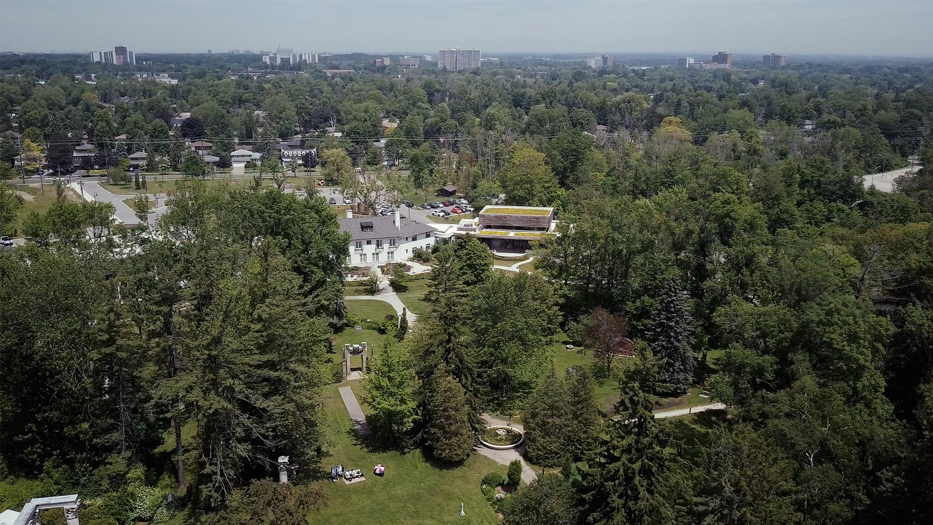 aerial image of guild inn estate toronto