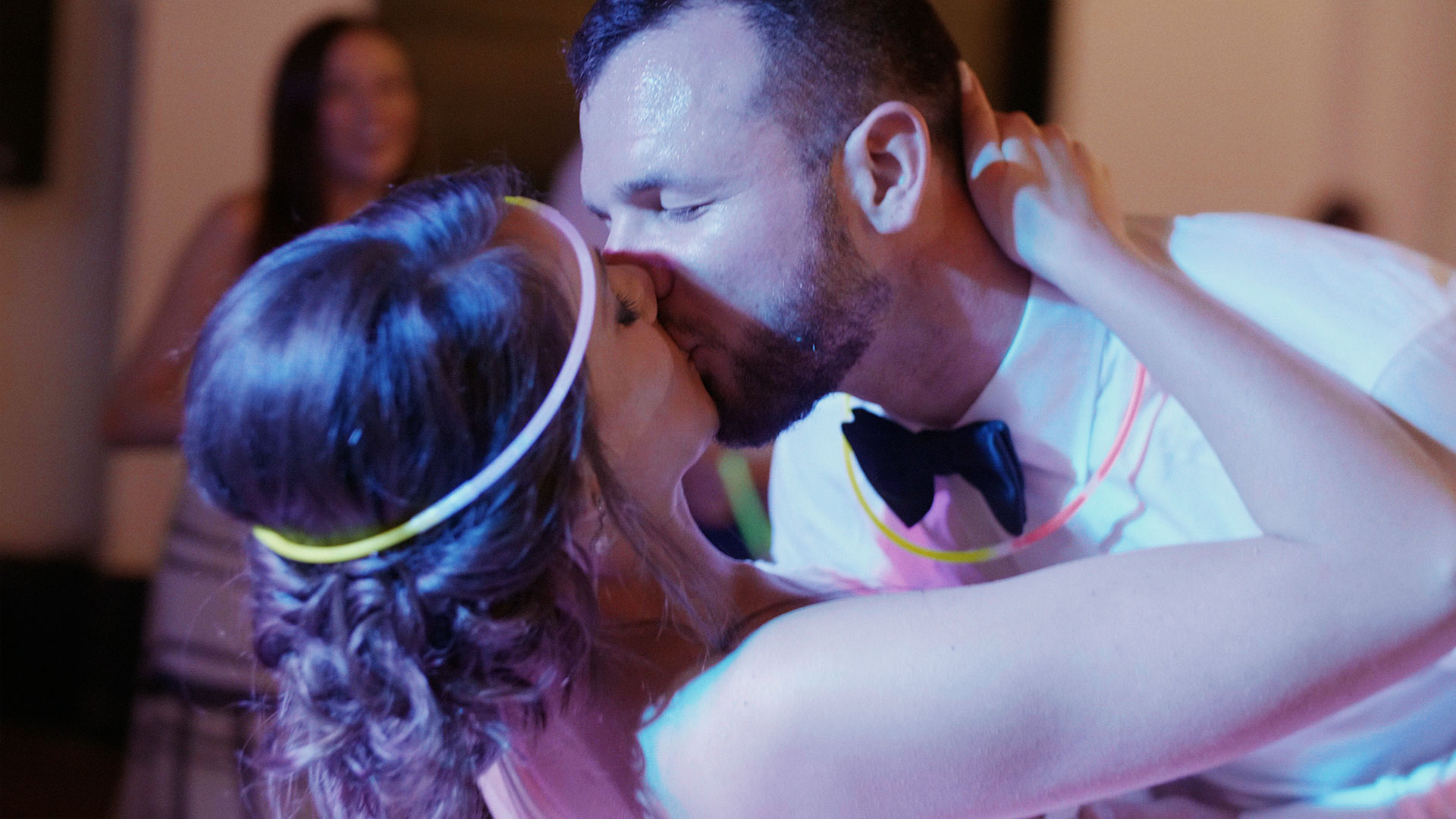 couple dancing at their playa del carmen wedding at Azul fives resort by destination wedding videographer kismet creative