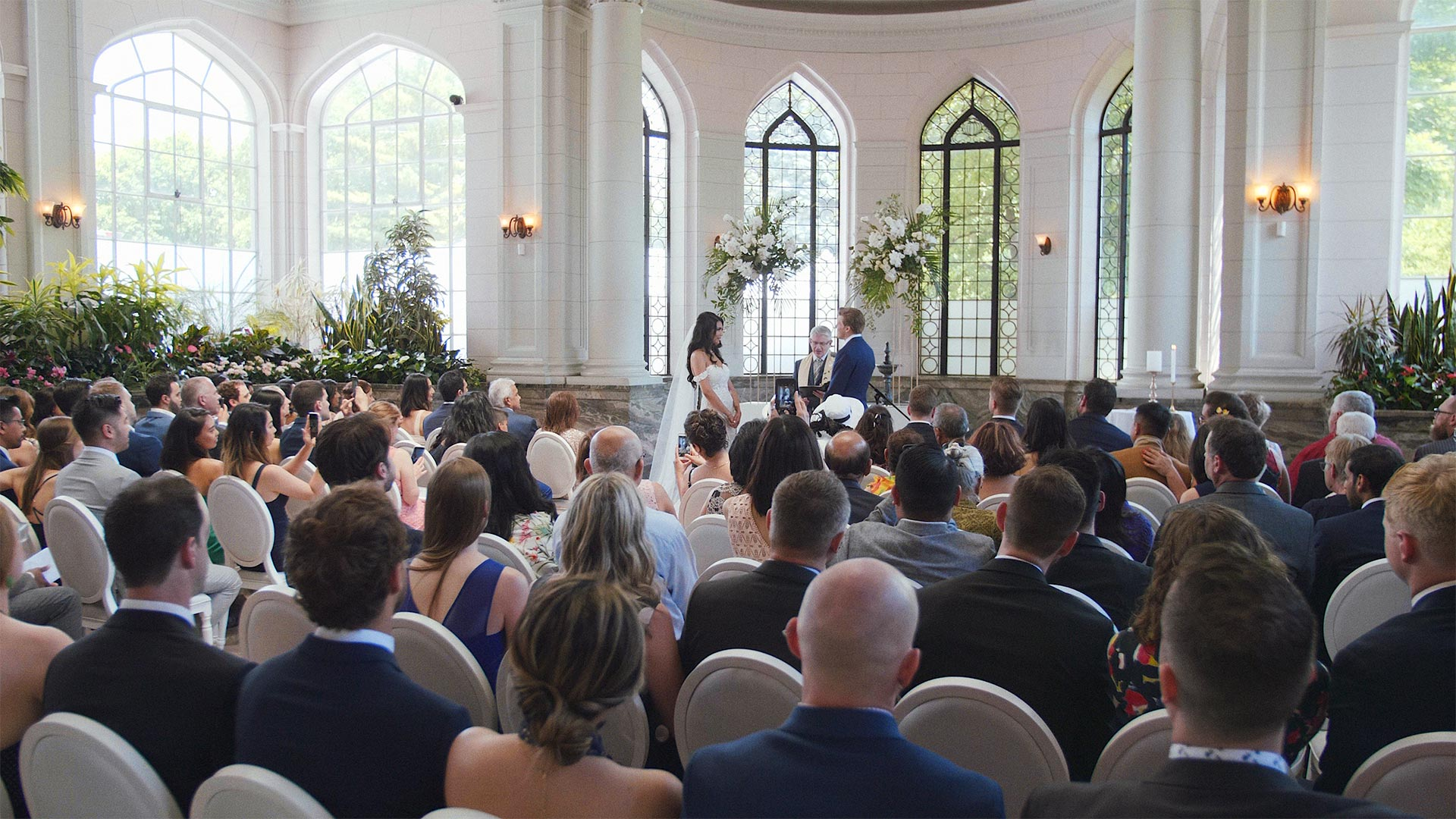 Ceremony in the Conservatory at Casa Loma Wedding in Toronto
