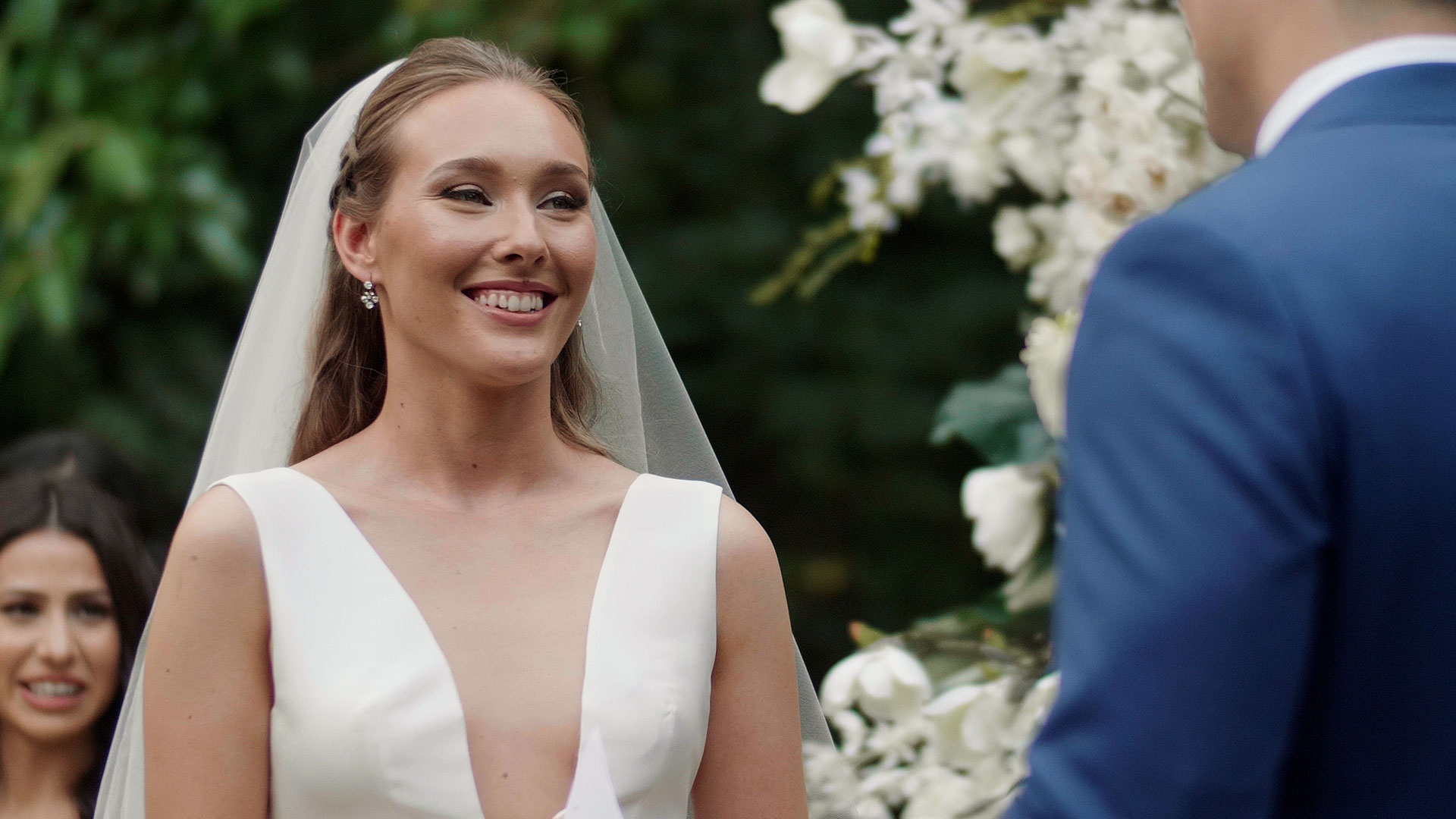 Bride says her own wedding vows to her groom
