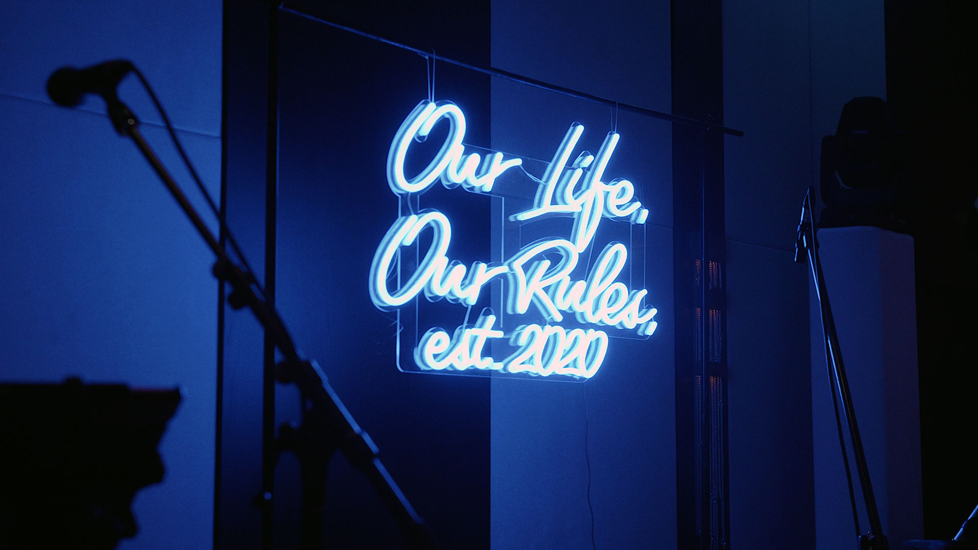 Custom neon sign at Hotel X Wedding Toronto