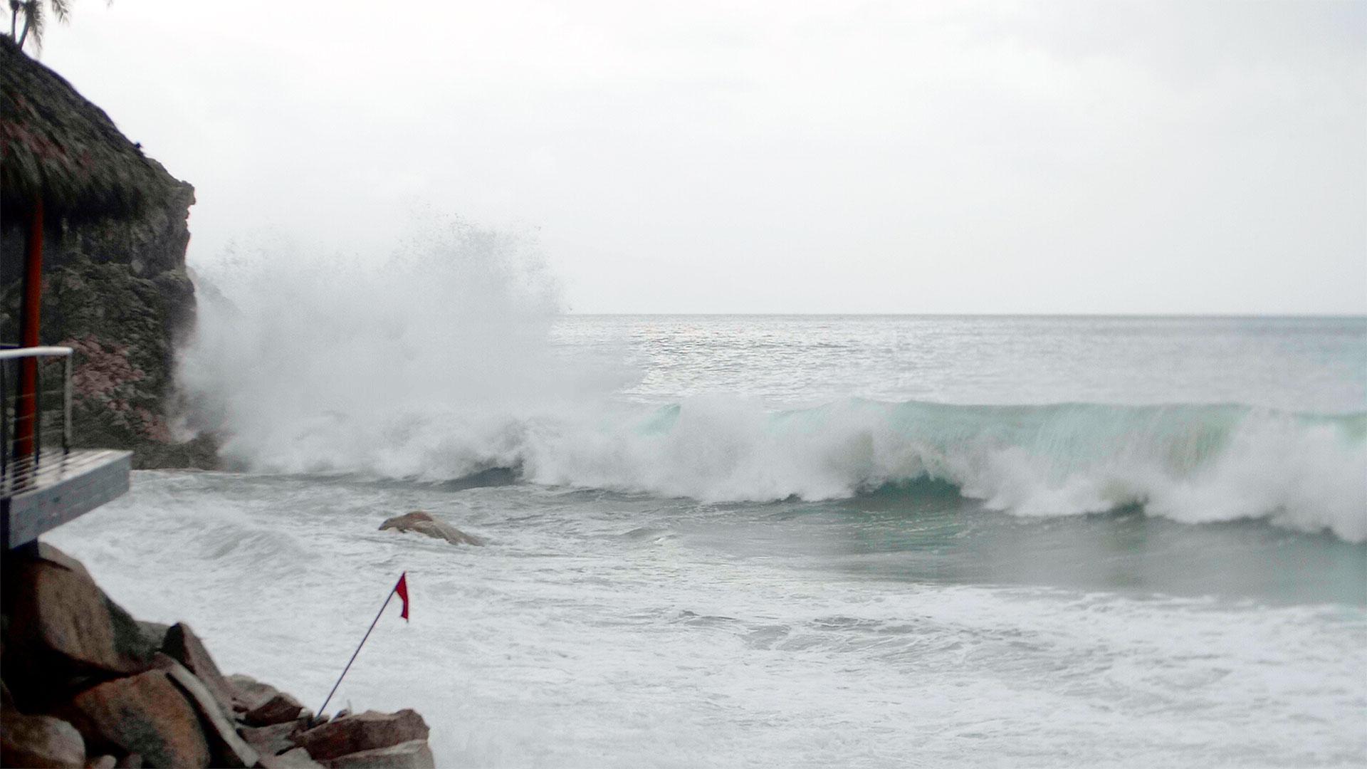 Waves Crash during Hurricane Willa at the Hyatt Ziva Puerto Vallarta