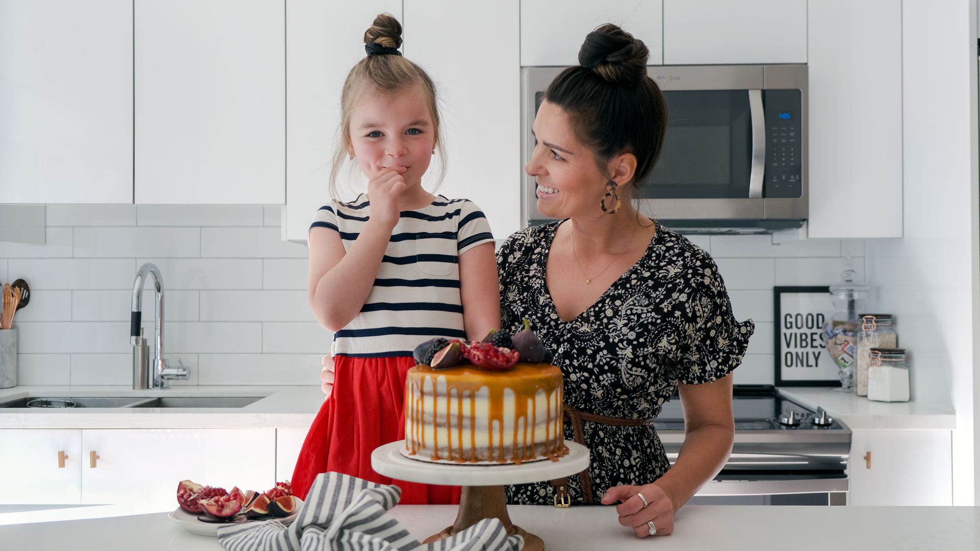 danielle and isla tasting cakes from Butter and Bloom