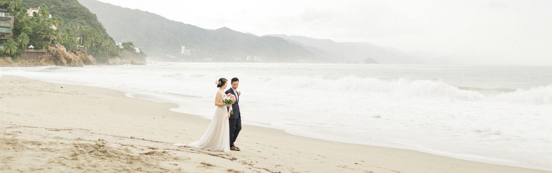 couple walkin on beach