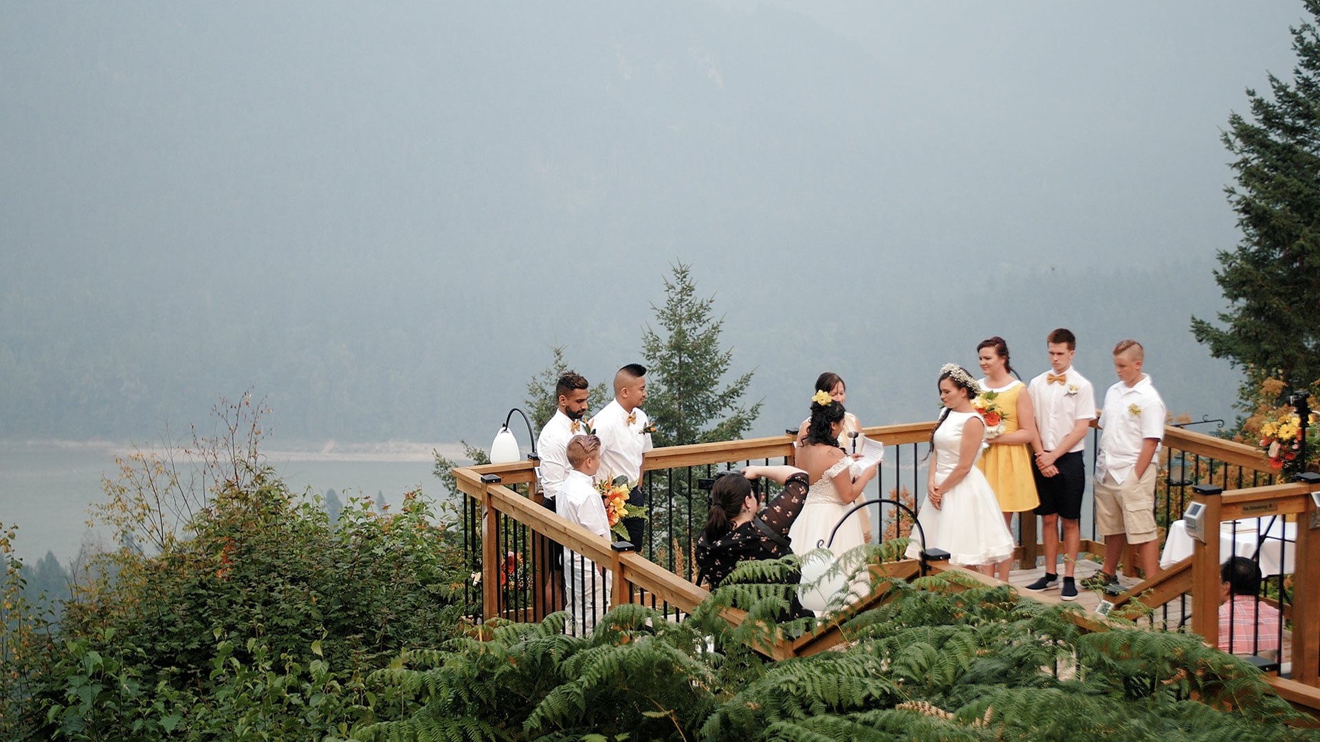 same sex wedding at American creek lodge hope bc