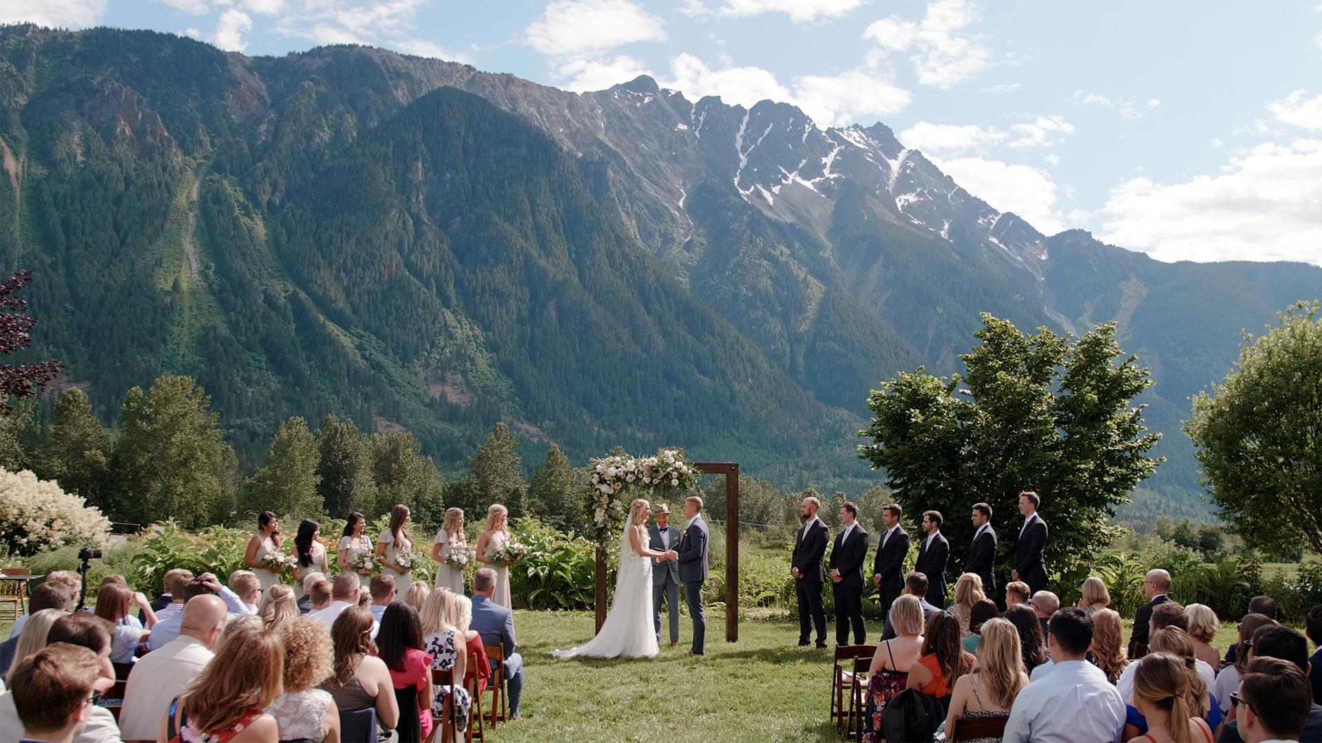 North Arm Farm Wedding Ceremony by Whistler Wedding Videographer Kismet Creative